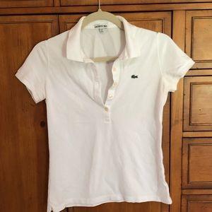 Lacoste white shirt